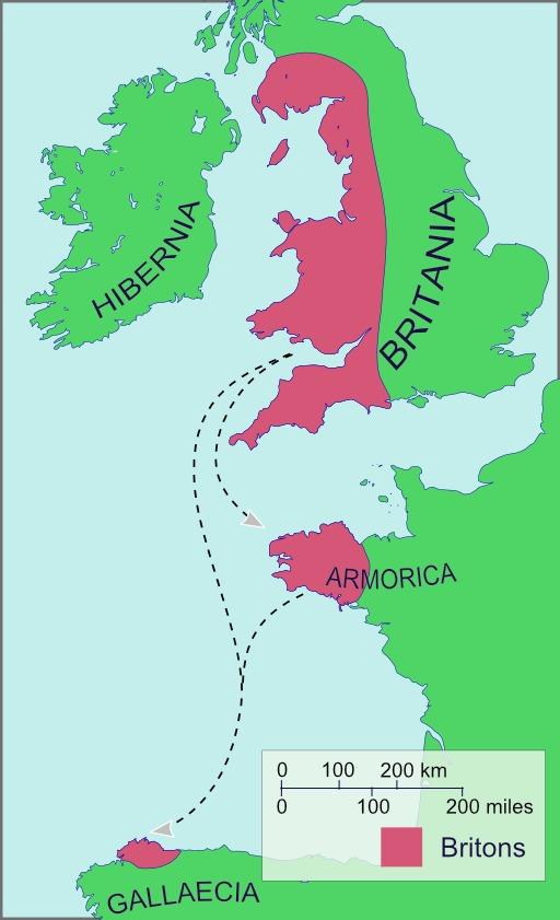 Les Bretons au VIème siècle