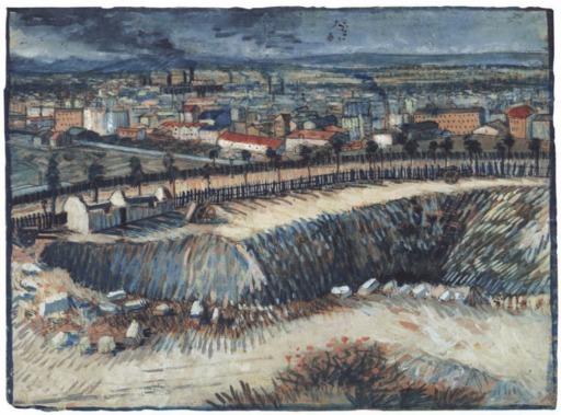 Les carrières de Montmartre en 1887
