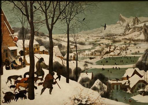 Les chasseurs dans la neige