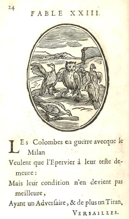Les colombes et le milan