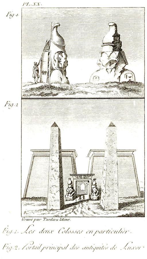 Les colosses de Louxor en 1799