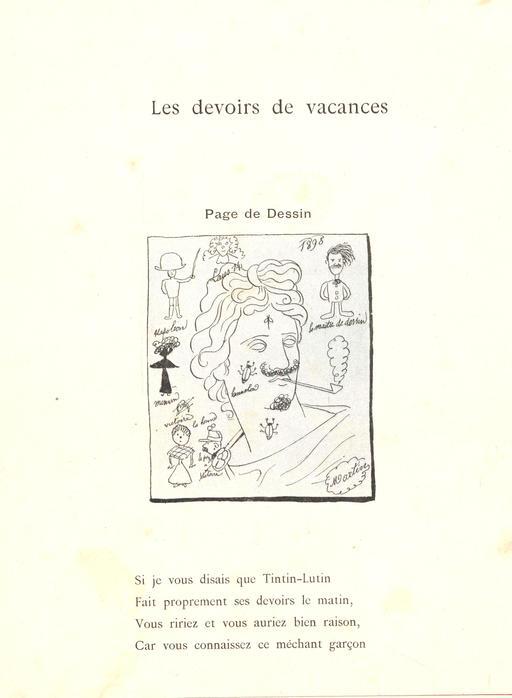 Les devoirs de vacances de Tintin-Lutin