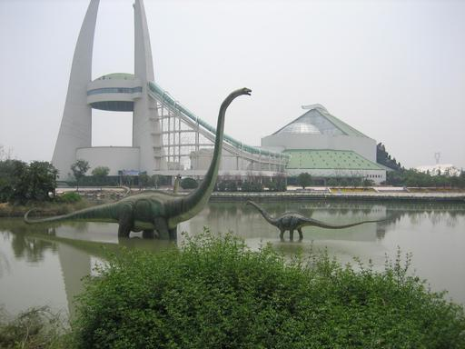 Les dinosaures du parc d'attraction chinois