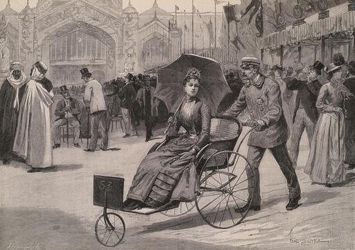 Les élégantes au Champ de Mars en 1889