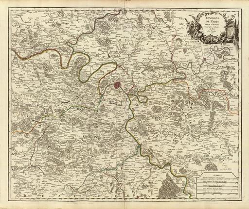 Les environs de Paris en 1757