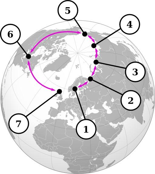 Les espèces de goélands autour de l'arctique