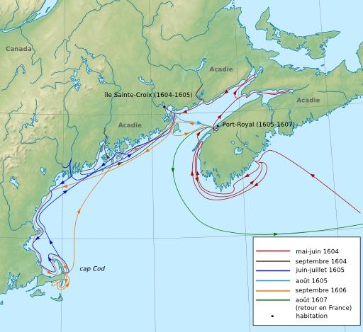 Les expéditions en Acadie
