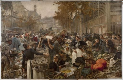 Les Halles de Paris en 1889