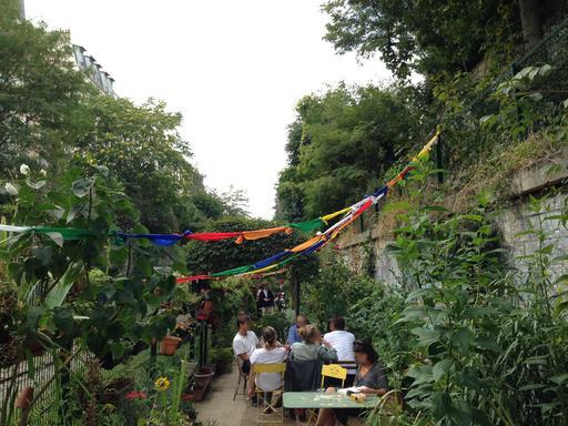 Les jardins du ruisseau à Paris