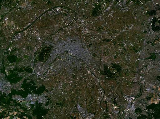 Les méandres de la Seine à Paris