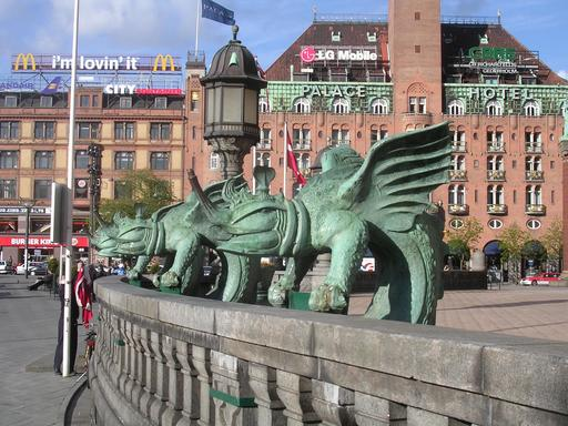 Les monstres de la balustrade de Copenhague