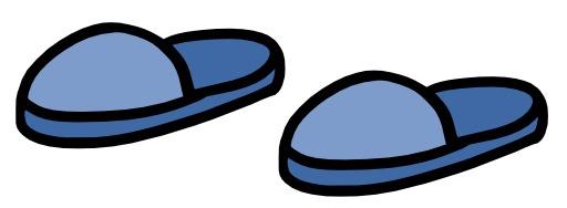 Les pantoufles de Chloé