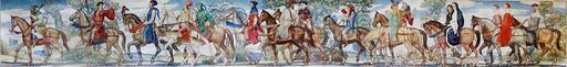 Les pélerins de Canterbury à cheval