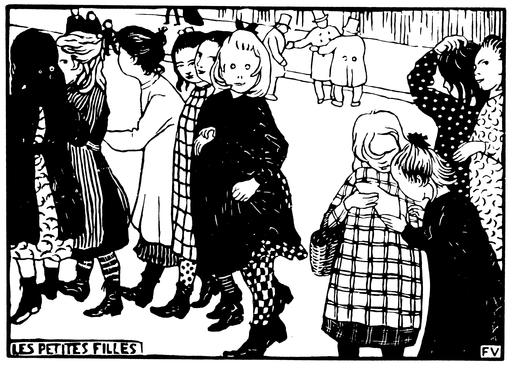 Les petites filles en 1893