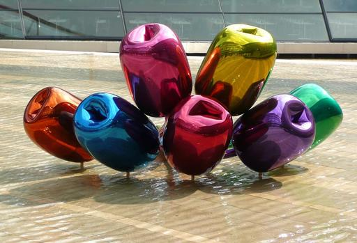 Les sept tulipes de Jeff Koons