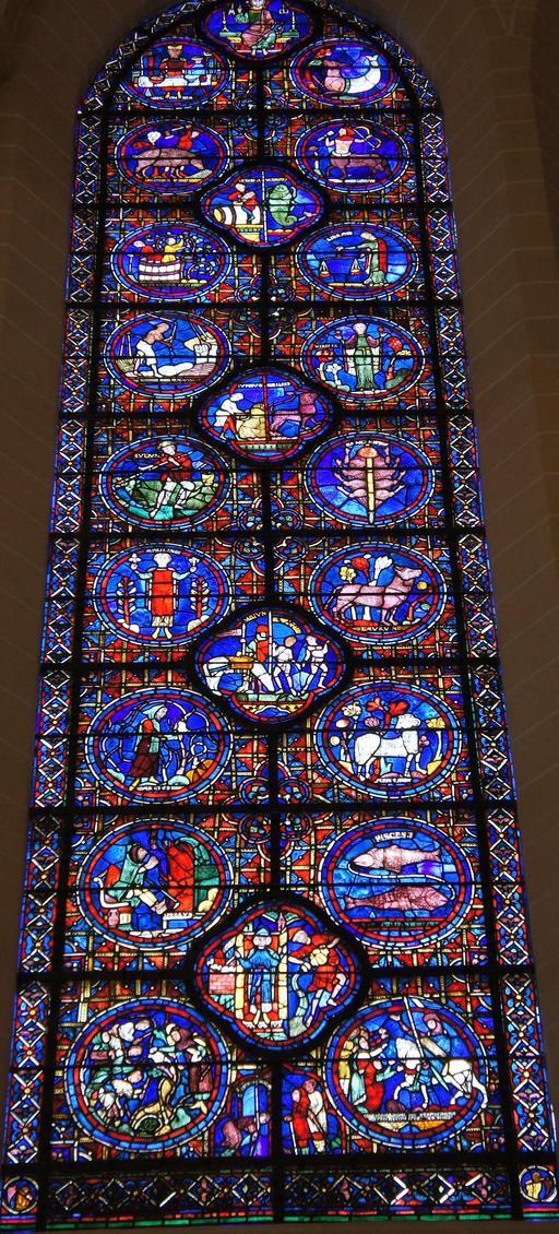 Les signes du zodiaque à Chartres