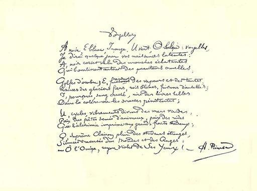 Les voyelles de Rimbaud