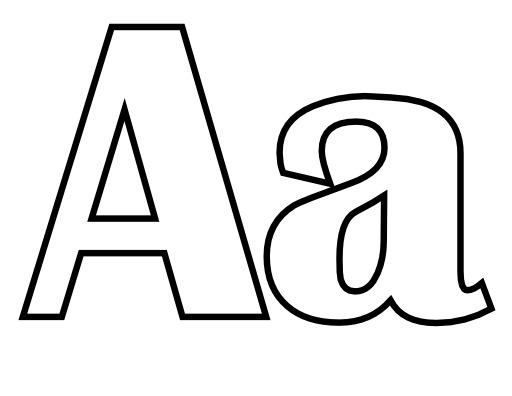 Lettres A et a à colorier