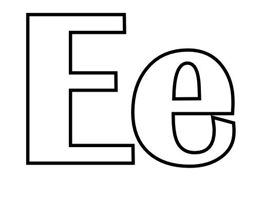 Lettres E et e à colorier