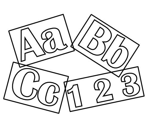 Lettres et chiffres à colorier
