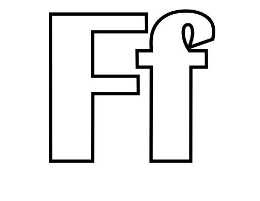 Lettres F et f à colorier