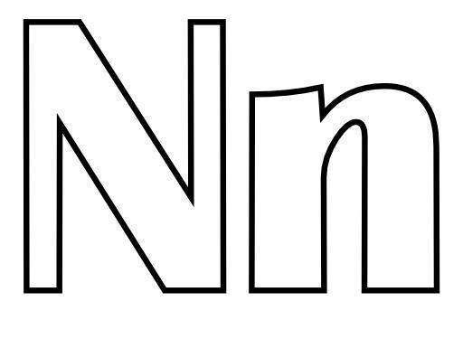 Lettres N et n à colorier
