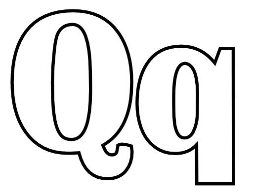 Lettres Q et q à colorier