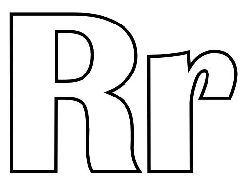Lettres R et r à colorier