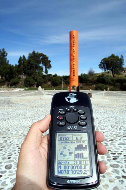 Ligne équatoriale sur GPS