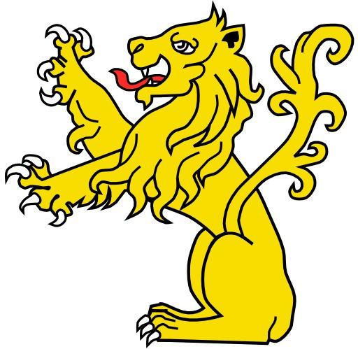 Lion Assis Dressé en héraldique