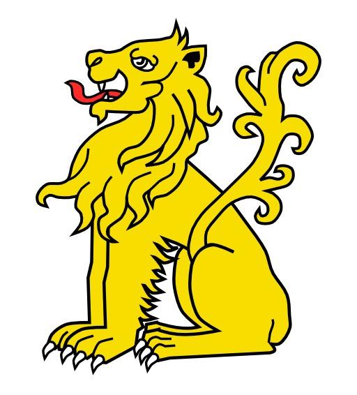 Lion Assis en héraldique
