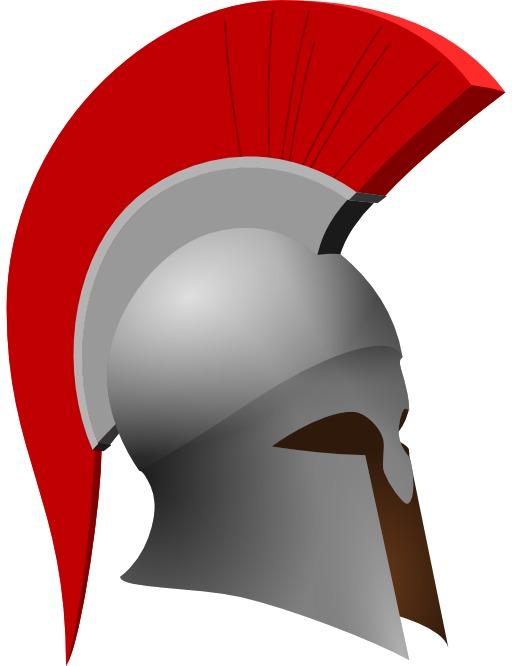 Logo de casque d'hoplite