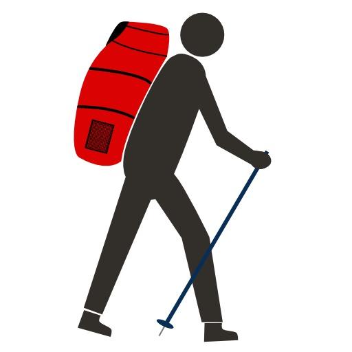 Logo de parapentiste randonneur
