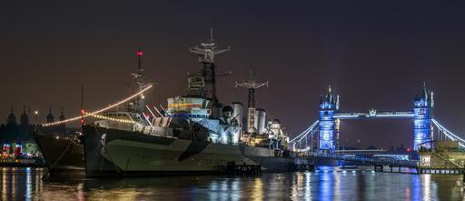 Londres et la Tamise de nuit
