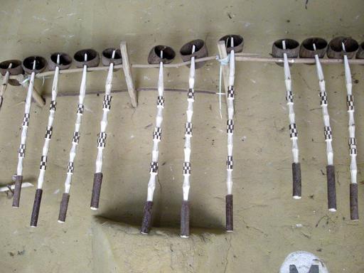 Louches en bois sénégalaises