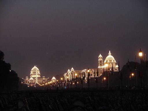 Lumières du palais présidentiel en Inde