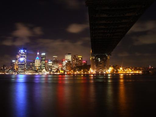 Lumières nocturnes à Sydney en janvier