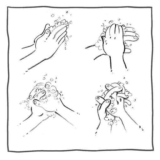 Ressources ducatives libres les - Coloriage lavage des mains ...