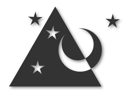 Lune et quatre étoiles turques