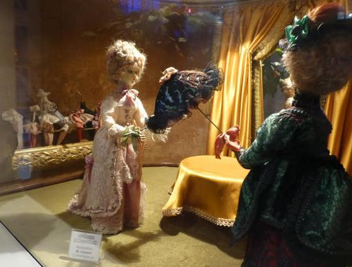 Magasin d'ombrelles au musée des automates