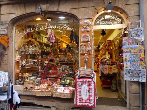 Magasin de pains d'épices à Strasbourg