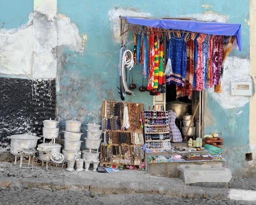 Magasin en plein air au Cap-Vert