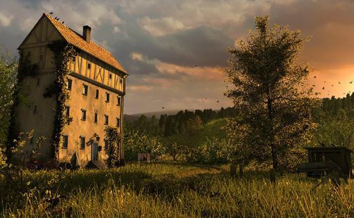 Maison abandonnée et isolée