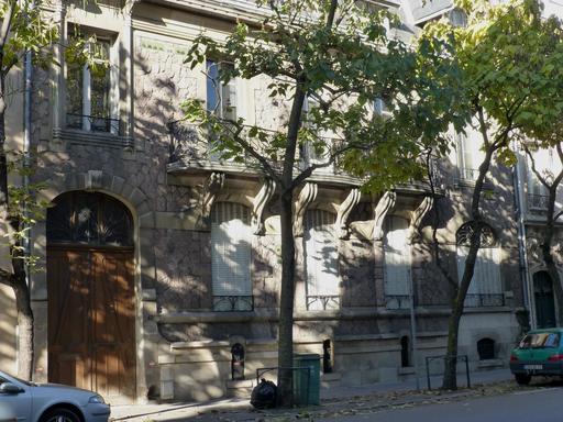 Maison art nouveau avenue Foch à Nancy
