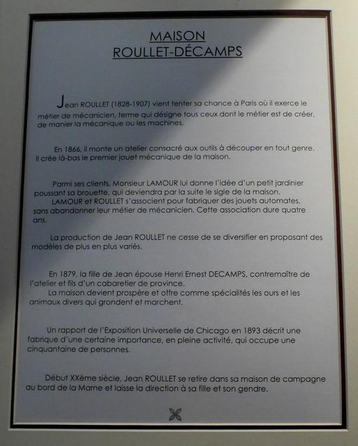 Maison Roullet-Décamps au musée des automates