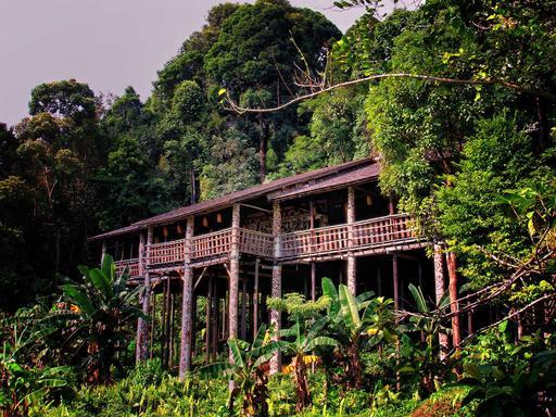 Maisons sur pilotis Sarawak
