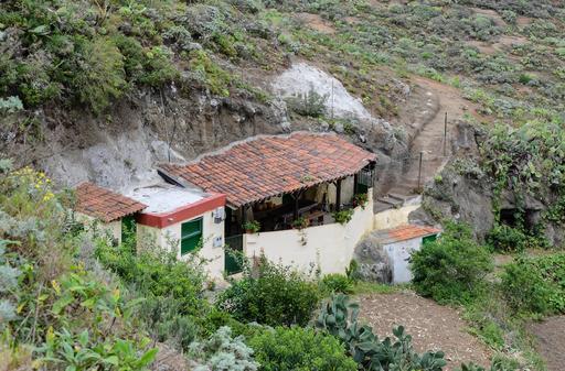 Maisons troglodytiques à Ténérife