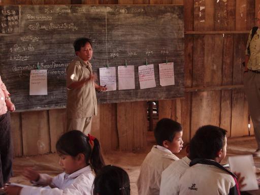 Maître d'école au Laos