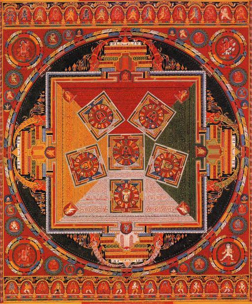 Mandala des six Chakravartins