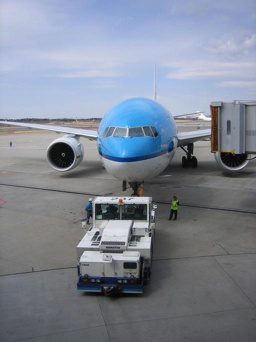Manoeuvre au sol à l'aéroport